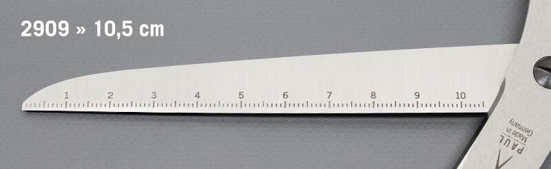 Papierschere mit Lineal Gravur