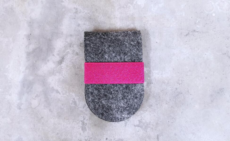 Filzetui für bis zu zwei Nagelscheren (Pink)