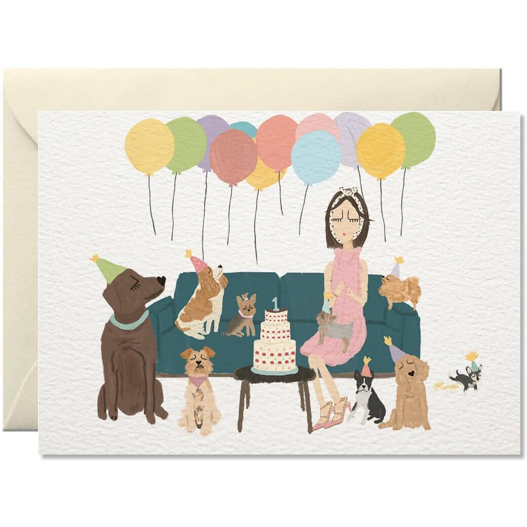 Geburtstagskarte Hundeparty
