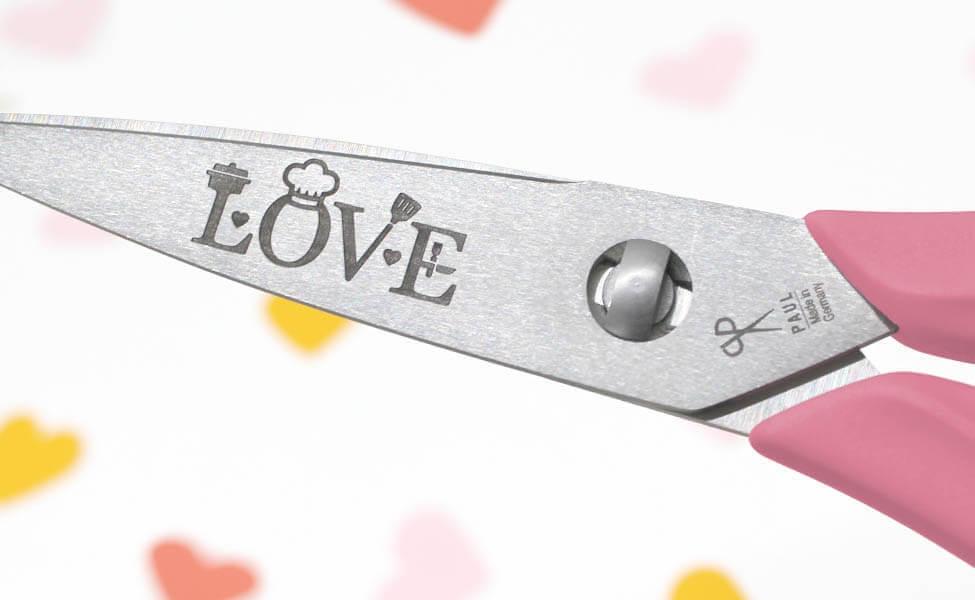 """Küchenschere """"LOVE"""""""
