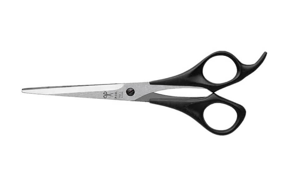 Haarschere Premium mit Haken (Schwarz, 179 mm)