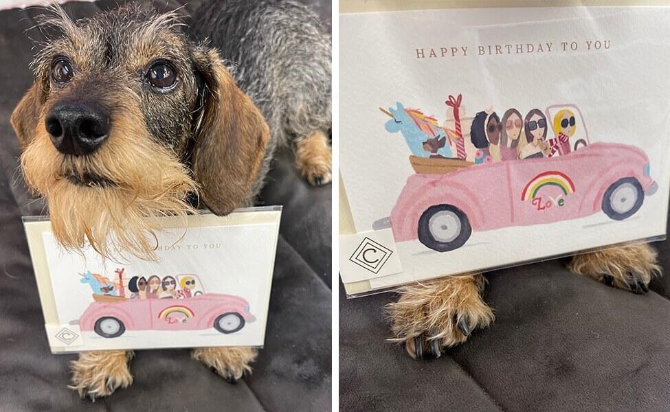 Klappkarte Happy Birthday to you