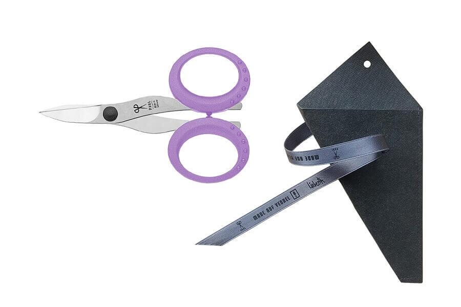 Nagelschere Premium (Helllila) im schwarzen Papieretui