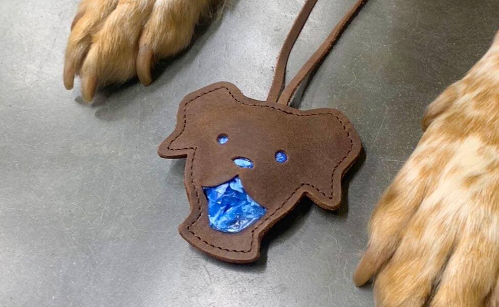 Tütchenspender Theo (Blaue Tüte)