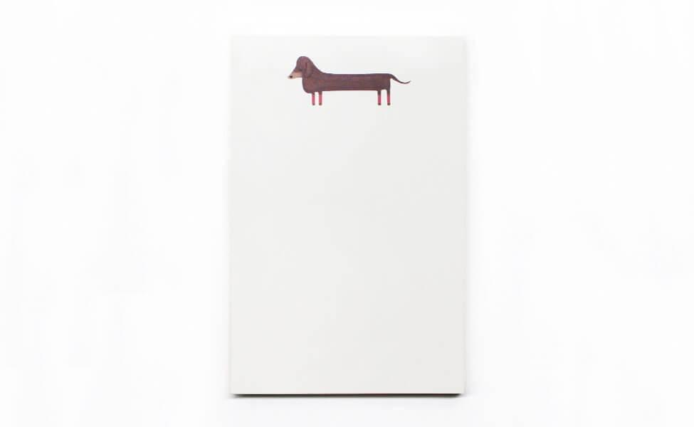 Notizbuch mit Dackel Motiv